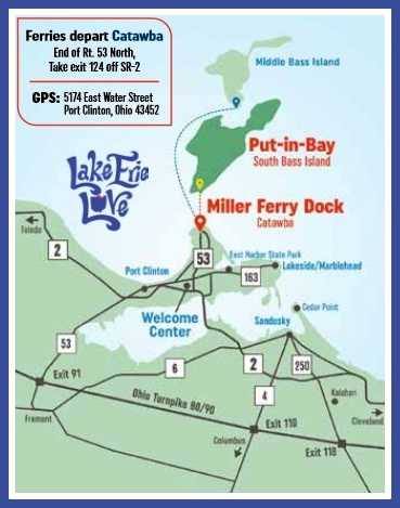 Put in Bay - Ferry to Put-in-Bay and Middle Bass Island